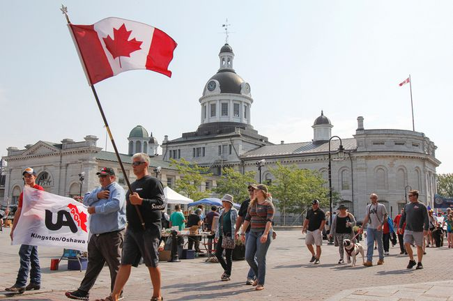 Loclal workers and union members were among the participants in the Labour Day Parade on Monday. The parade started at McBurney Park, made its way down to city hall and then back to McBurney Park for a picnic. (Julia McKay, The Whig-Standard)
