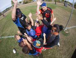 The Fort McMurray Knights have undertaken the task of fostering rugby development at the younger age levels with their mini-rugby program. Robert Murray/Fort McMurray Today/Postmedia Network