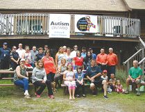 Photo by Patricia Drohan/For The Mid-North Monitor The Espanola Autism Acceptance Beach Party BBQ took place on Aug. 30 from 1 to 5 p.m. at the Anishinabe Spiritual Centre on beautiful Anderson Lake thanks to volunteers headed up by Dennis Lendrum.
