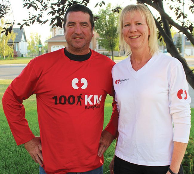 KELCI NICODEMUS HIGH RIVER TIMES/ POSMTEDA NETWORK. Paul and Brenda Chisholm will participate in the Kidney March this coming weekend from Kananaskis Country to Calgary.