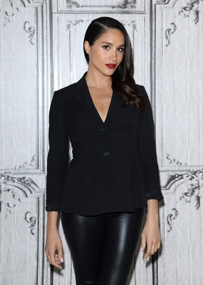 """Actress Meghan Markle participates in AOL's BUILD Speaker Series to discuss her role on the television show, """"Suits"""", at AOL Studios in New York on March 17, 2016. (Evan Agostini/Invision/AP)"""