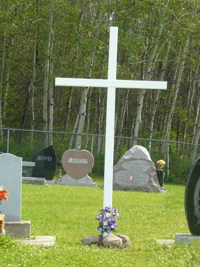 Kevin and Rose Pye spent $500 of their own money resurrecting a large cross and sign to mark the location of the cemetery.