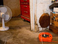 Fans, dehumidifiers and wet vacs are in heavy use in basements along Queens Avenue in London, Ont. on Tuesday June 23, 2015. (Free Press file photo)