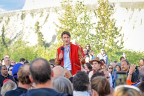 Prime Minister Justin Trudeau speaks at a community event Kwanlin Dun Cultural Centre in Whitehorse, Yukon on Friday, Sept. 1, 2017. THE CANADIAN PRESS/ Joel Krahn