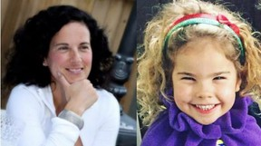 Sarah Payne, 42, and daughter Freya, 5, were killed in a head-on crash southwest of London on Aug. 29, 2017.