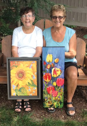 Contributed Photo Norfolk artists Ann Duwyn and Margaret Brock will be exhibiting at the Station Arts Centre Sept. 7-30.