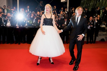 CANNES, FRANCE - MAY 22:  Nicole Kidman and Keith Urban depart after the 'The Killing Of A Sacred Deer' screening during the 70th annual Cannes Film Festival at Palais des Festivals on May 22, 2017 in Cannes, France.  (Photo by Andreas Rentz/Getty Images)
