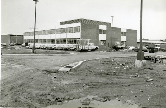 The short-lived provincial trades institute, shown in this 1964 photo, became part of Fanshawe College's much-expanded main campus on Oxford Street.  (London Free Press files)