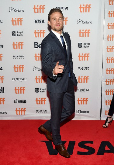 """Actor Charlie Hunnam attends the world premiere of """"Papillon"""" on Day 1 of the Toronto International Film Festival at the Princess of Wales Theatre on Thursday, Sept. 7, 2017, in Toronto. (Photo by Evan Agostini/Invision/AP)"""