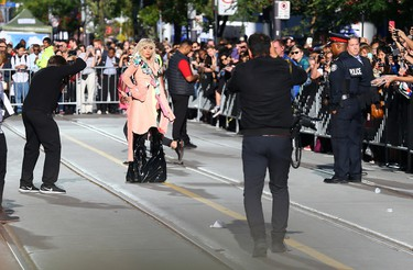 Lady Gaga for Gaga arrives for movie Five Foot Two at the Princess of Wales Theatre during the Toronto International Film Festival in Toronto on Friday September 8, 2017. (Dave Abel/Toronto Sun/Postmedia Network)