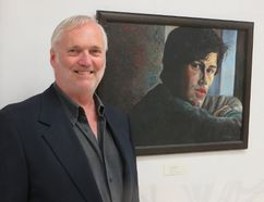 Photo courtesy of Janice McAlpine Rob McAlpine is the first artist to have his painting displayed at a new gallery space inside the HIV/Aids Regional Services office at 844 Princess St. His exhibit opened last week and will run until the end of the month.