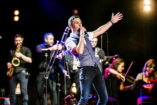 Irish singer Nathan Carter performs on his inaugural North American tour, along with his band and guest singer Chloe Agnew, Saturday at the Grand Theatre. (Supplied photo)