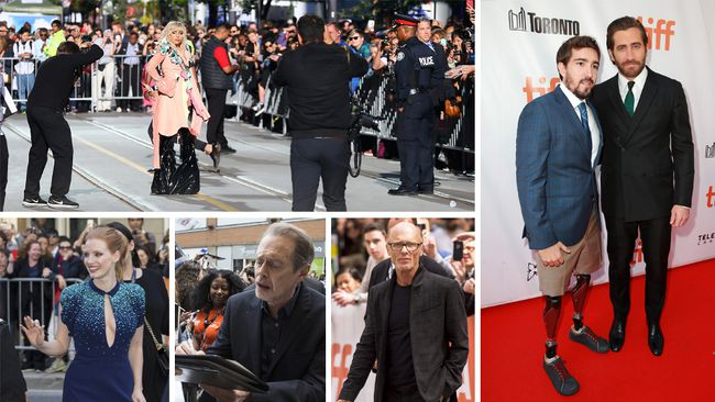 Lady Gaga, Jake Gyllenhaal, Jessica Chastain, Steve Buscemi, and Ed Harris were among the stars who walked the red carpet at the Toronto International Film Festival on September 8, 2017 in Toronto, Ontario.