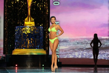 Miss New Mexico 2017 Taylor Rey participates in Swimsuit challenge during Miss America 2018 - Third Night of Preliminary Competition at Boardwalk Hall Arena on September 8, 2017 in Atlantic City, New Jersey. (Photo by Donald Kravitz/Getty Images for Dick Clark Productions)