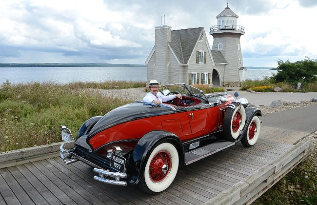 Geoff McLeese, vice-president of finance at Cobble Beach, with a 1929 Auburn Speedster at the golf resort community. The Cobble Beach Concours d'Elegance is back for the fifth time on Sept. 16 and 17. (Rob Gowan The Sun Times)
