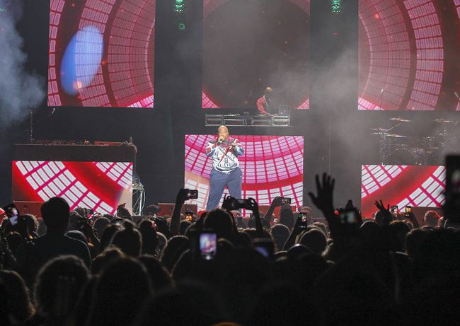 Young MC rocks the house at the I Love The 90's Tour concert at the Rogers K-Rock Centre on Friday night. (Julia McKay/The Whig-Standard)