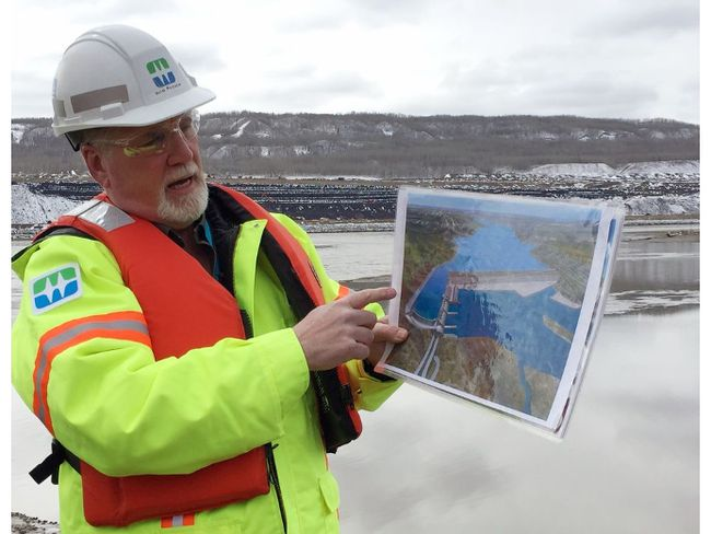 Bob Peever, Site C construction manager, discusses the project just downstream of dam site in Fort St. John, B.C., on April 18, 2017. (Larry Pynn/Postmedia Network)