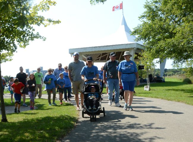 Participants take part in the Owen Sound WALK-IT for Parkinson's at the Harry Lumley Bayshore Community Centre on Sunday. (Rob Gowan The Sun TImes)