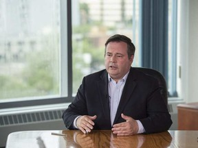 UCP leadership candidate Jason Kenney at the Edmonton Journal building on August 4, 2017 (Shaughn Butts | Postmedia).