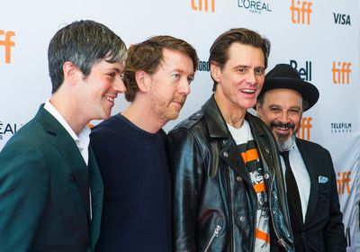 Actor Jim Carrey (second from right)  at the red carpet matinee for the movie Jim & Andy at the Elgin and Winter Garden Theatres during the Toronto International Film Festival in Toronto on Monday September 11, 2017. Ernest Doroszuk/Toronto Sun/Postmedia Network
