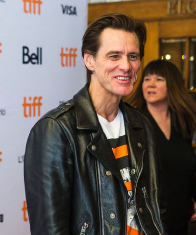 Actor Jim Carrey at the red carpet matinee for the movie Jim & Andy at the Elgin and Winter Garden Theatres during the Toronto International Film Festival in Toronto on Monday September 11, 2017. Ernest Doroszuk/Toronto Sun/Postmedia Network
