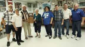 Several family members and friends of local Cheryl Nuhn who recently died of cancer met at the Seaforth Legion to play the first annual cribbage tournament in her memory last Saturday. (Shaun Gregory/Huron Expositor)