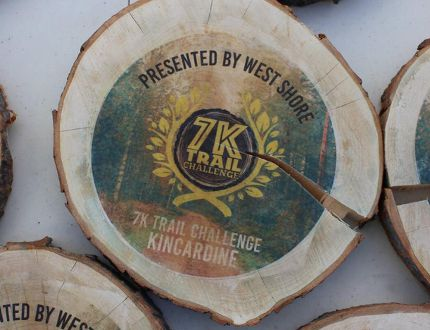 The Kincardine &K Trail Challenge is all set for the Sept. 24, 2017 event at 10 a.m. starting at Station Beach. Pictured: Last year's awards were a unique prize for winners.