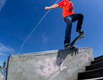 Jake Bland does a nose grind during the third annual Skate for Spina Bifida and Hydrocephalus at the Castle Downs skateboard park in 2015. David Bloom, Postmedia Network