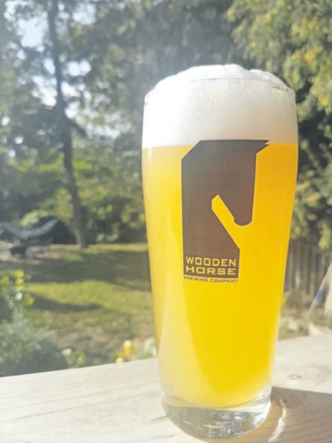 Wooden Horse's seasonal Saison Kombucha blends beer with Chinese kombucha tea. (Wayne Newton/Special to Postmedia News)