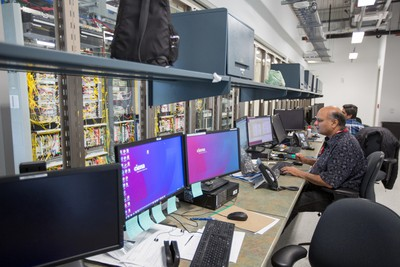 A software engineer works in the software lab as we get a peek inside the new high-tech campus at Ciena in advance of the formal opening in early September.   Photo Wayne Cuddington/ Postmedia