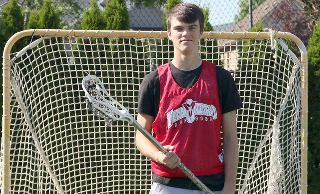 Curtis Bukta won silver with Team Ontario at the Midget Boys' Lacrosse Nationals in Whitby. The St. Mary's Catholic high school student plays with three lacrosse teams.  Greg Colgan/Woodstock Sentinel-Review/Postmedia Network file photo