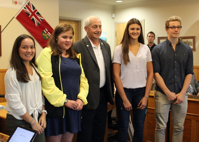 Mayor of Kenora Dave Canfield presented Canada Summer Games athletes, as well as city staff who helped out with the event, with gifts and certificates of recognition before the regular council meeting on Tuesday, Sept. 12.