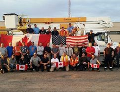 Alectra Utilities dispatched 36 workers to Georgia, Wednesday, to assist in power restoration efforts in the wake of Hurricane Irma. Submitted Photo