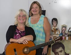 Joan Minnery (left) and Jane McGregor look forward to a musical presentation of Minnery's journey as told through music and dance. The production will be staged at the Sanderson Centre on Sept. 29. (Brian Thompson/The Expositor)