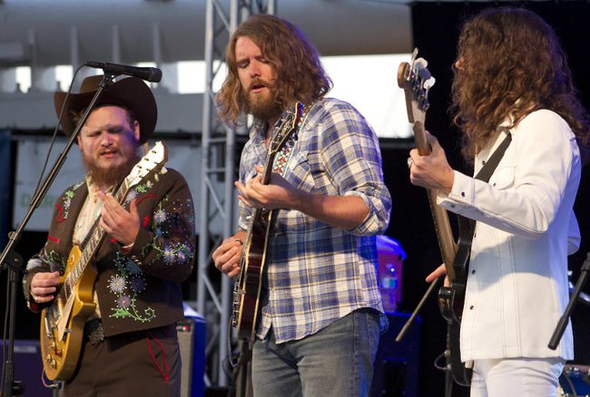 Jimmy Bowskill, Ewan Currie and Ryan Gullen of The Sheepdogs return to the Western Fair on Thursday. The Saskatoon rockers were scheduled to perform at the Fair in 2014, but the show was cancelled due to stormy weather. The band's most recent album, Future Nostalgia, was released in 2015. (Postmedia News)