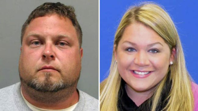 Tyler Tessier (left) is charged with the slaying of his pregnant girlfriend, Laura Wallen, who was missing for more than a week before being found dead in a shallow grave.  (Montgomery County Department via AP)