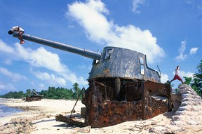 Betio island, where the remains of 2nd Lt. Donald Underwood were discovered recently. (Getty Images)