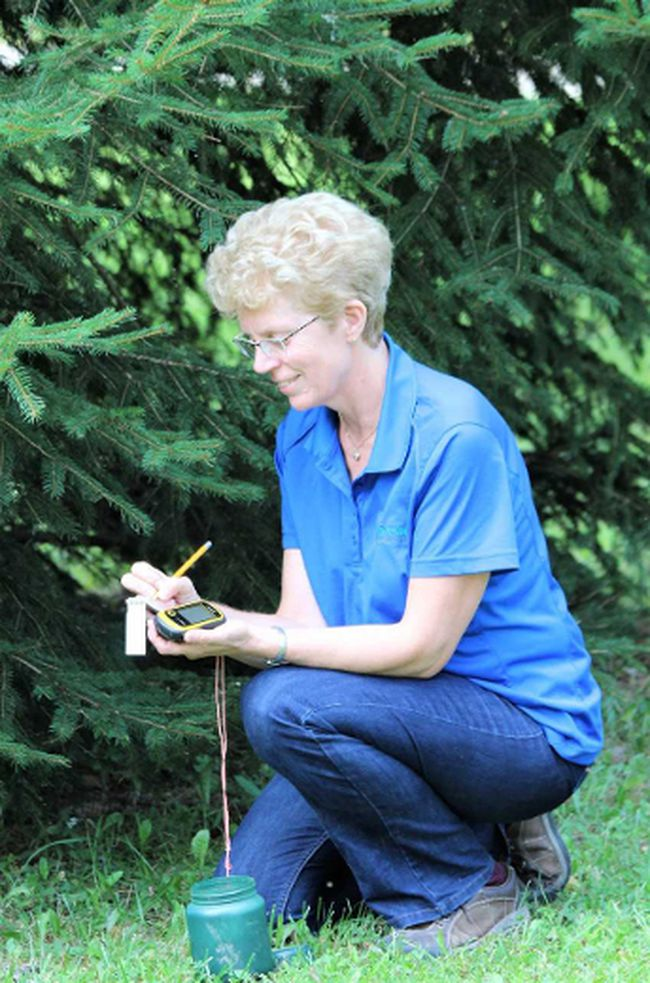 Sharon Nethercott is the conservation education coordinator for the St. Clair Region Conservation Authority. She's part of a geocaching adventure to be held Sunday at the Lorne C. Henderson Conservation Area near Petrolia. (Handout/Postmedia Network)