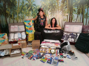 William Leung and Melissa Amelotte will be travelling to Veradero, Cuba later this month with six suitcases filled with medical supplies for the storm-ravaged island nation. They're also carrying school supplies, diapers and children's clothes. (Tony Caldwell, Postmedia)