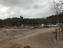 Alpine Stables near the Waterton townsite, destroyed by the Kenow Fire. Photo courtesy: Jenika Watson