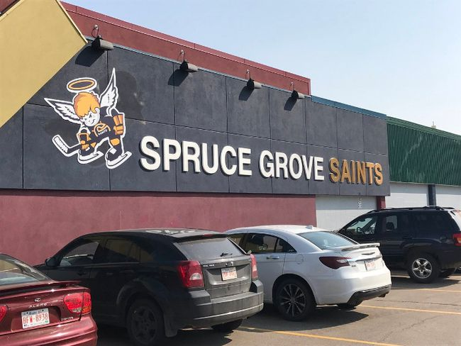 Photo supplied by Spruce Grove Saints -  The Spruce Grove Saints unveiled their new logo last week. It is just one of many ways the team is presenting its re-branding under the new ownership group.