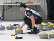 Brad Jacobs gets ready to make a shot in the final of the HMJ Campbell Shorty Jenkins Classic at the Cornwall Curling Centre on Sunday. Team Jacobs won the men's title. Lois Ann Baker/Cornwall Standard-Freeholder