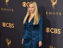 Reese Witherspoon arrives for the 69th Emmy Awards at the Microsoft Theatre on Sept. 17, 2017 in Los Angeles. (MARK RALSTON/AFP/Getty Images)