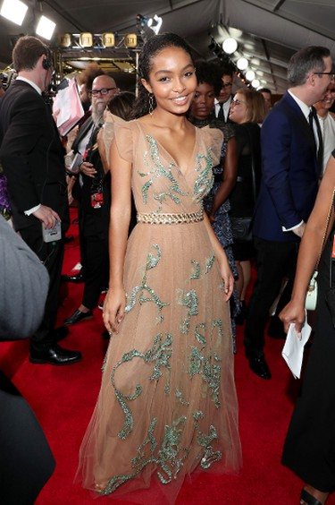 LOS ANGELES, CA - SEPTEMBER 17:  Actor Yara Shahidi walks the red carpet during the 69th Annual Primetime Emmy Awards at Microsoft Theater on September 17, 2017 in Los Angeles, California.  (Photo by Rich Polk/Getty Images for IMDb)