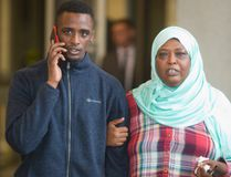 "Mohamed Sail walks out of a London court Monday afternoon a free man as his mother says, ""Justice has been made."" (MIKE HENSEN, The London Free Press)"