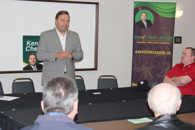 Saskatchewan Party leadership candidate Ken Cheveldayoff addressed the crowd during his meet and greet at the Canalta Hotel in Melfort on Friday, September 15.