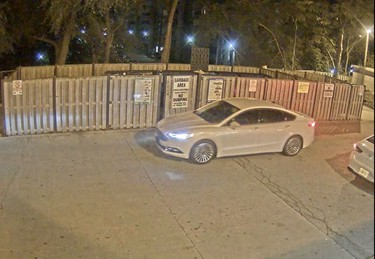 Newer model Ford Fusion used in the murder of Anthony Soares on Sept. 14, 2017.