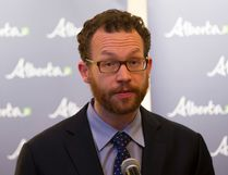 FILE PHOTO - Advanced Education Minister Marlin Schmidt talks in March of this year. In mid-September, he announced new streams of funding for post-secondary mental health initiatives. An Albertan student group wants insight into how the province determined which school got what.