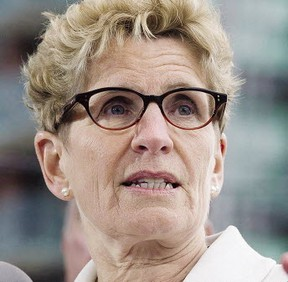 Ontario Premier Kathleen Wynne speaks during a news conference in Toronto on April 20, 2017. (THE CANADIAN PRESS/PHOTO)