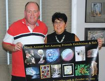 Photo by KEVIN McSHEFFREY/THE STANDARD Joseph Brann - a photographer, and Sue Levesque - who works with gourds, are organizing the Ninth Annual Art Among Friends Exhibition and Sale at Laurentian Lodge next weekend.